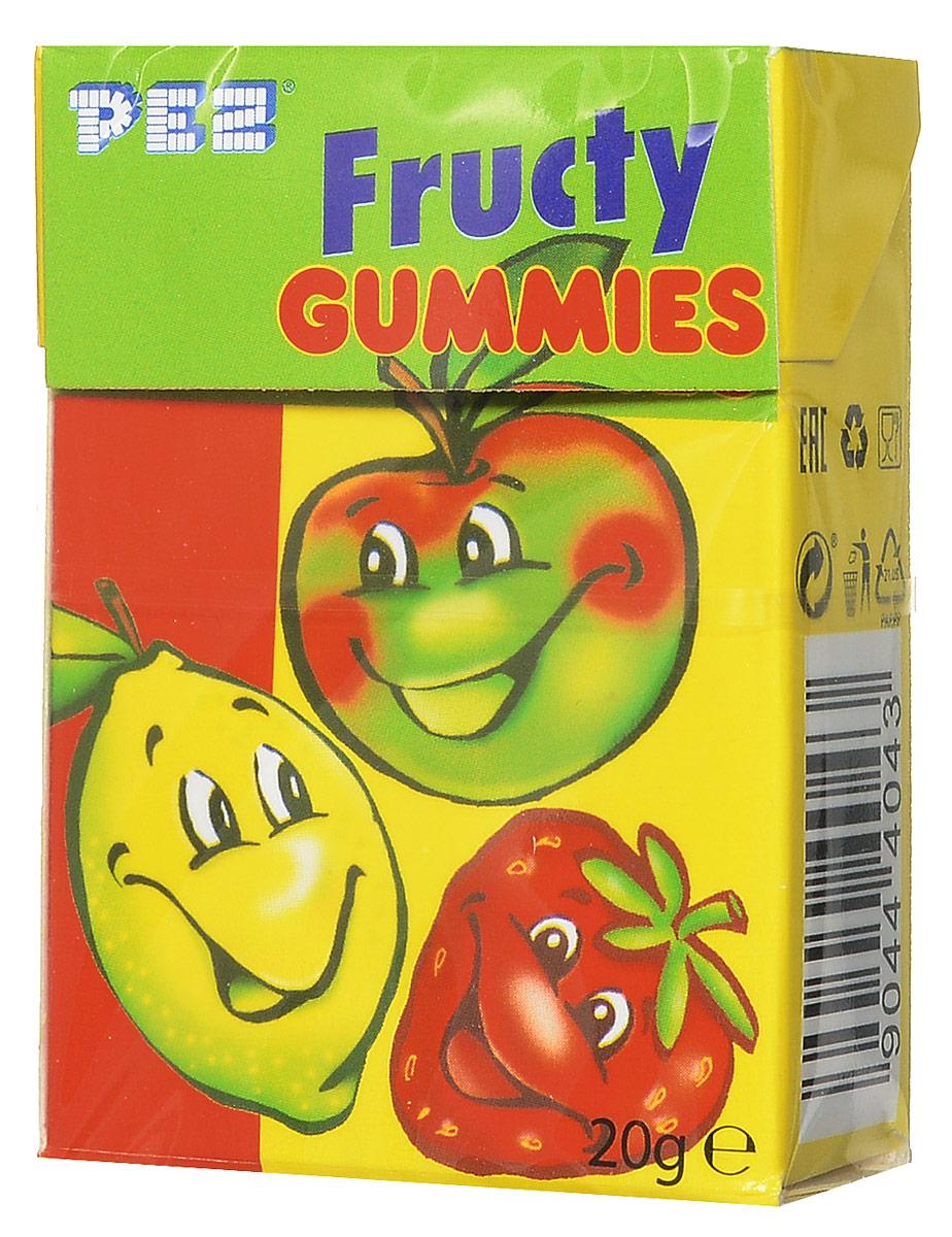 PEZ Fructy Gummies мармелад жевательный, 20 г победа вкуса шмелькино брюшко микс жевательный мармелад 250 г