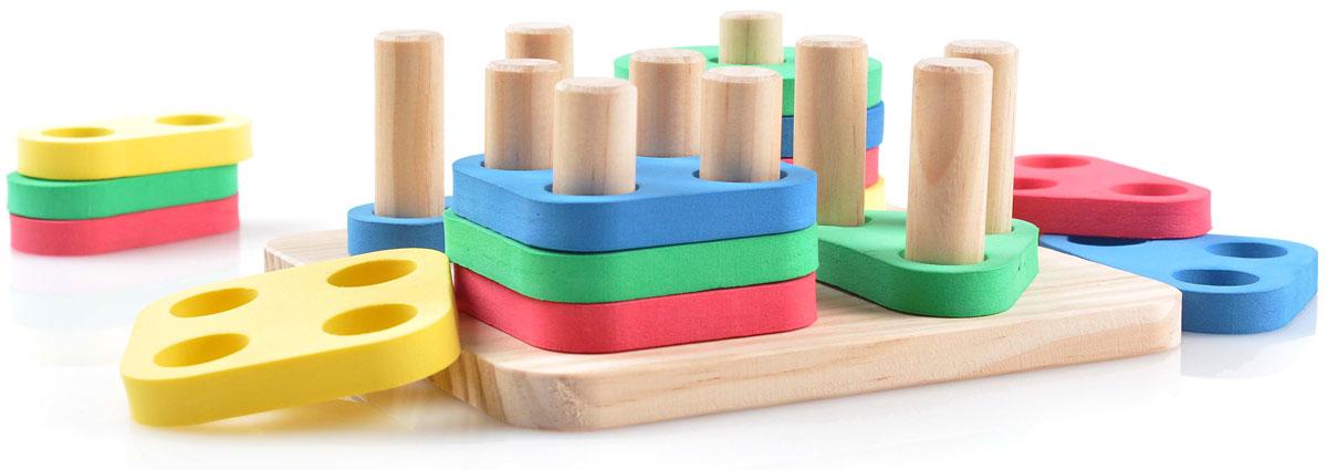 Мир деревянных игрушек Обучающая игра Логический квадрат игрушка развивающая логический квадрат артикул д020