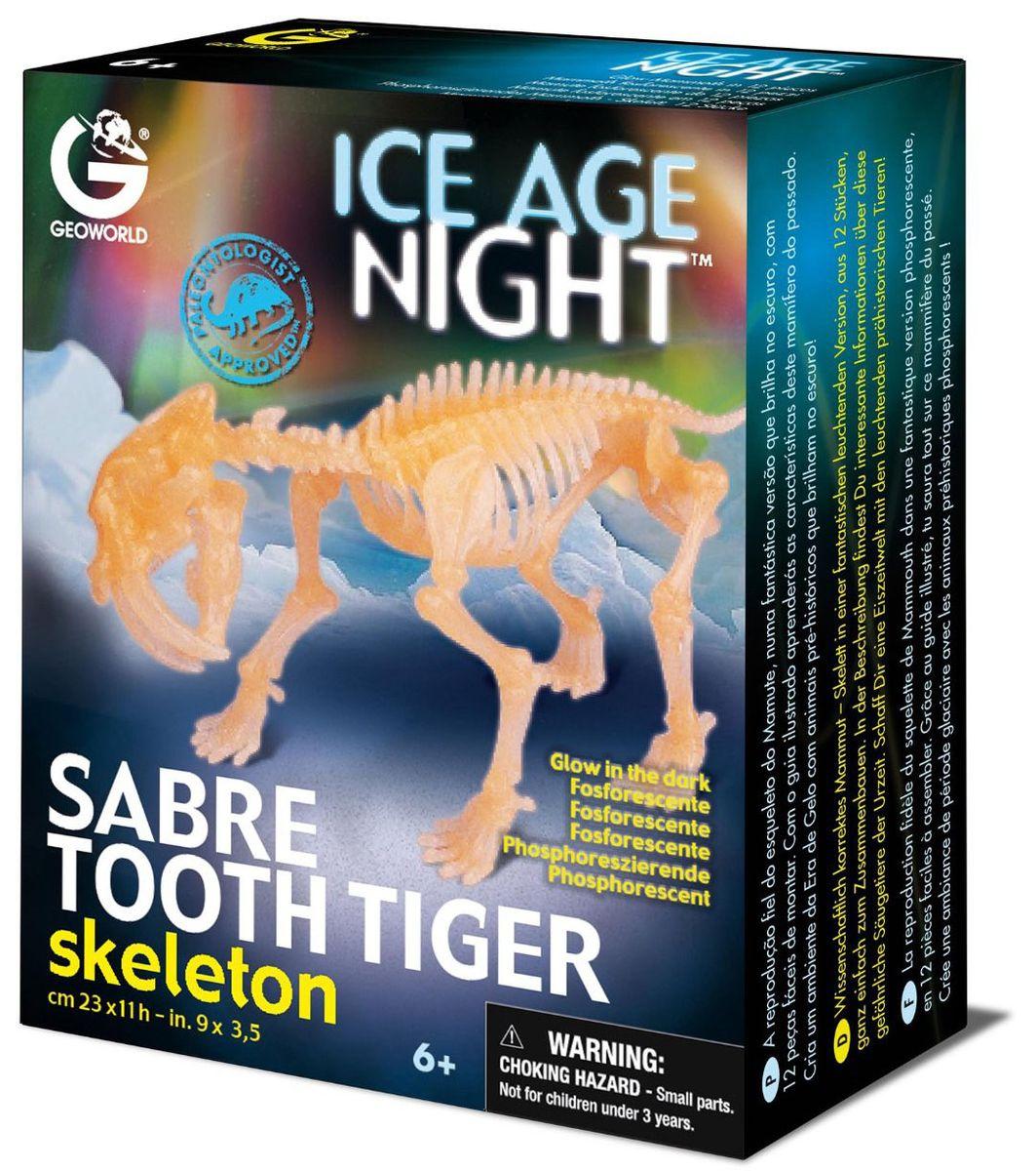 Geoworld Сборная модель Скелет саблезубого тигра geoworld сборная модель скелет саблезубого тигра