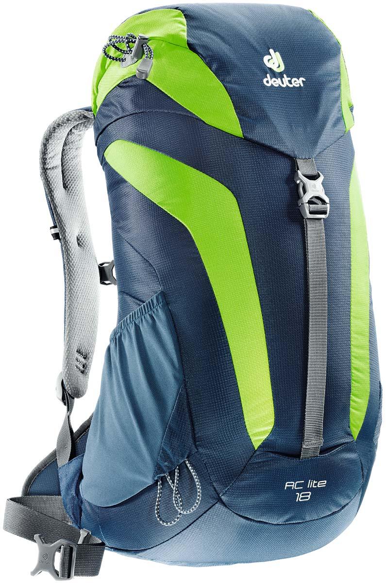 Рюкзак туристический Deuter AC Lite 18, цвет: синий, светло-зеленый, 18 л цена