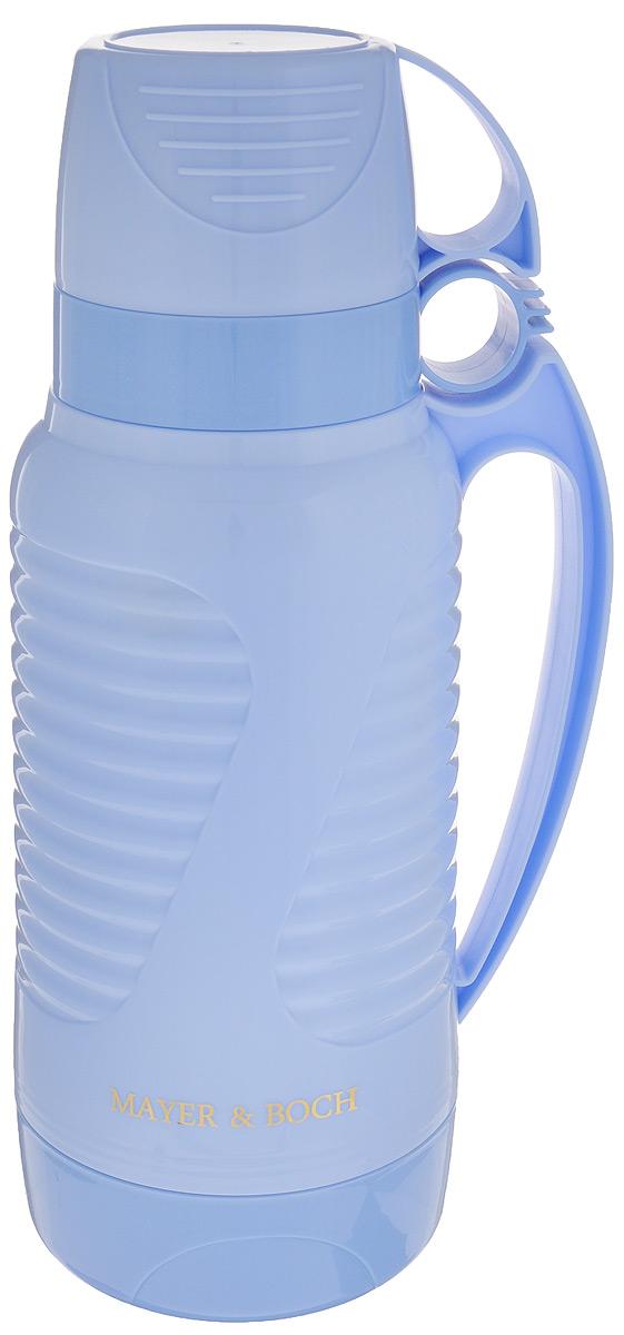 Фото - Термос Mayer & Boch, с 2 чашами, цвет: голубой, 1,8 л [супермаркет] jingdong геб scybe фил приблизительно круглая чашка установлена в вертикальном положении стеклянной чашки 290мла 6 z
