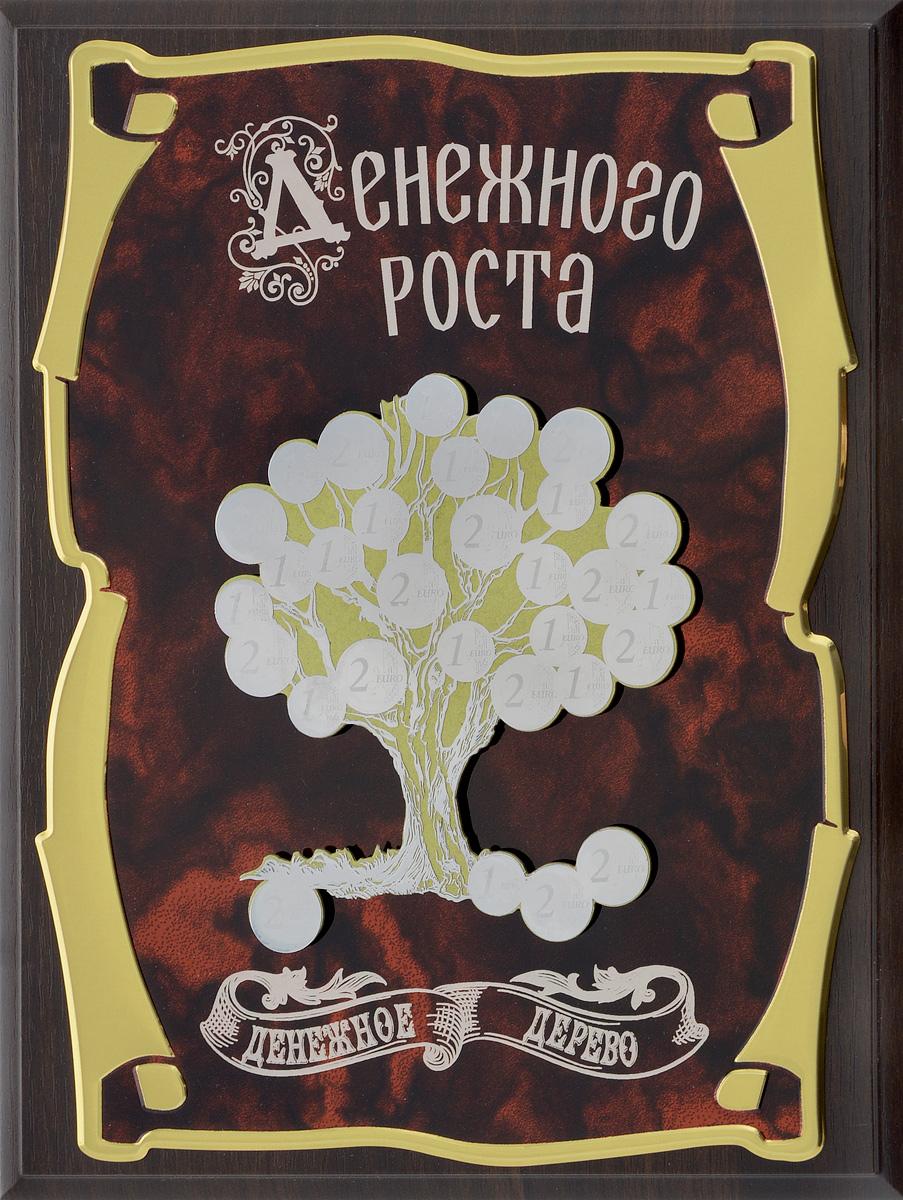 Панно Город Подарков Денежное дерево. Денежного роста!, 20,5 х 25,5 см цена