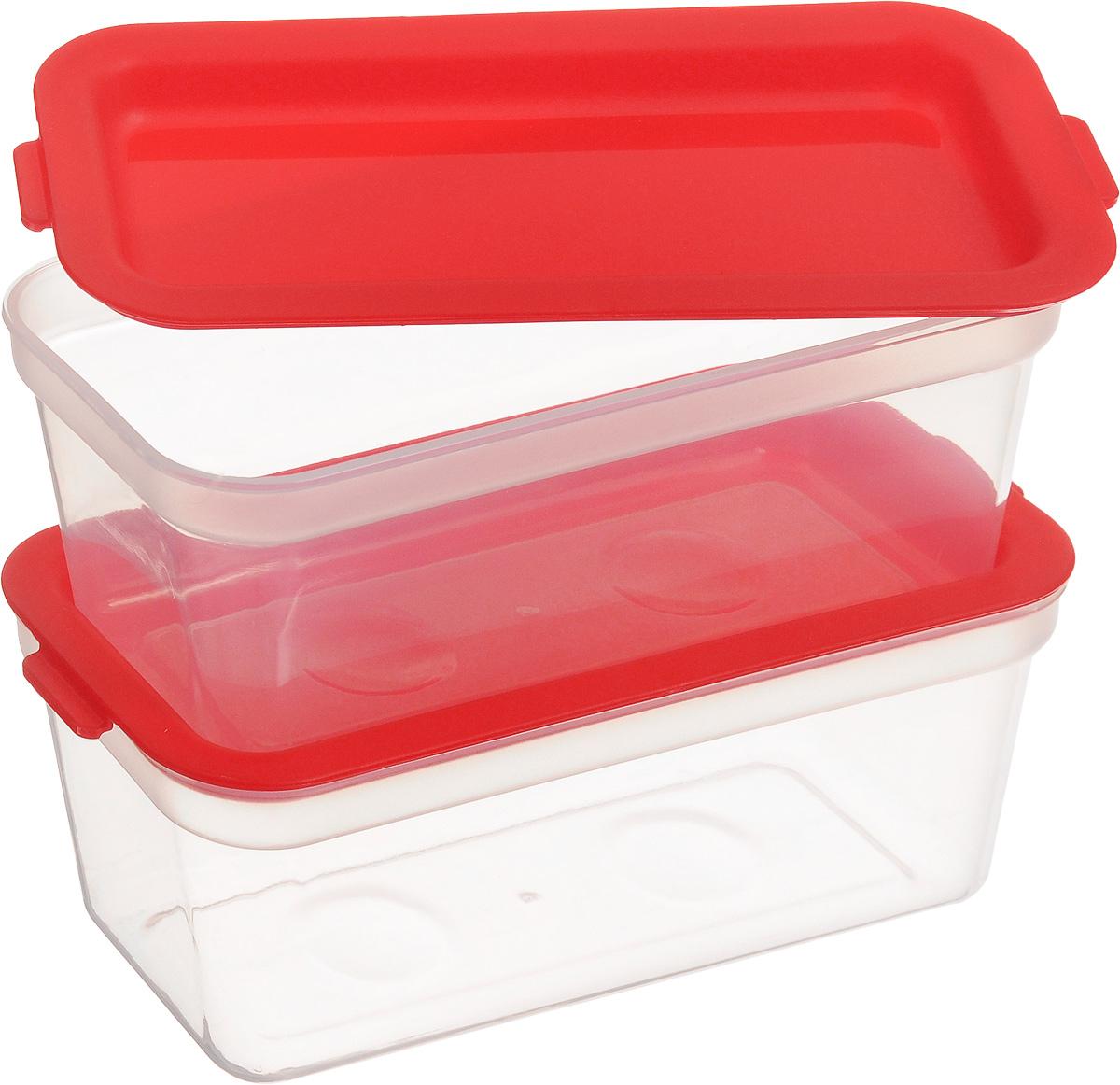 """Набор контейнеров для заморозки Tescoma """"Purity"""", цвет: красный, прозрачный, 300 мл, 2 шт"""