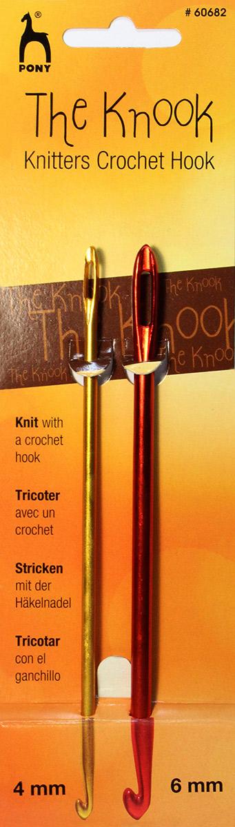 Крючки для нукинга Pony, диаметр 4 и 6 мм, 2 шт хуг в краткий курс по вязанию крючком в технике нукинг