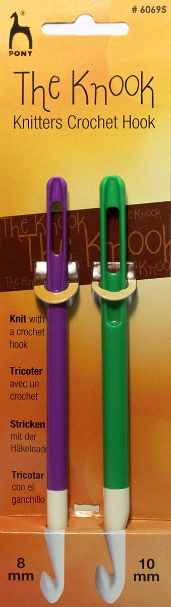 Крючки для нукинга Pony, диаметр 8 и 10 мм, 2 шт хуг в краткий курс по вязанию крючком в технике нукинг
