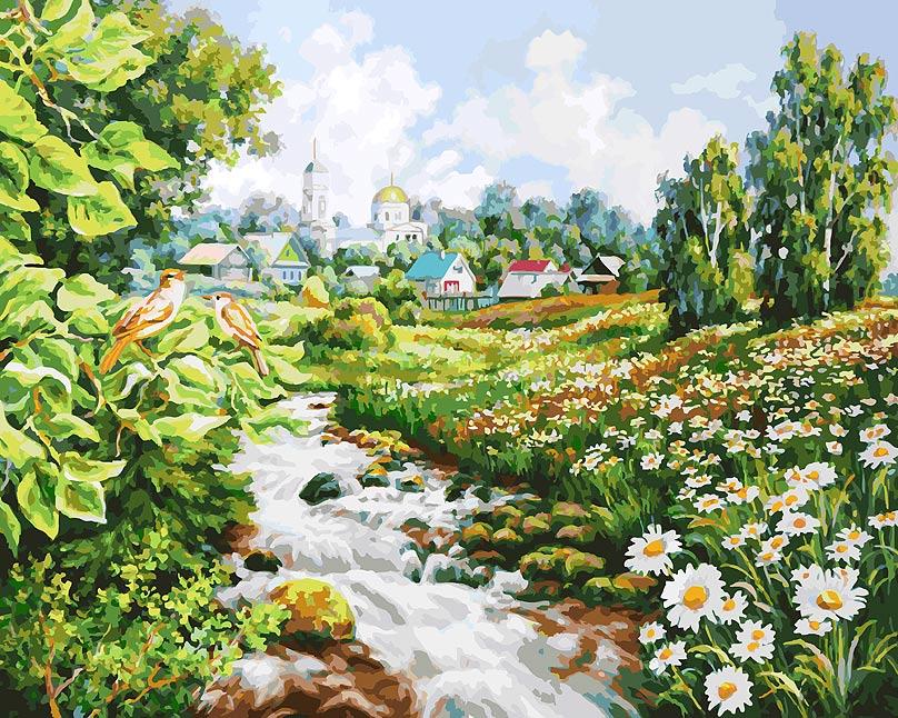 Живопись на холсте Белоснежка Там, где поют соловьи, 40 х 50 см kydra где купить краску