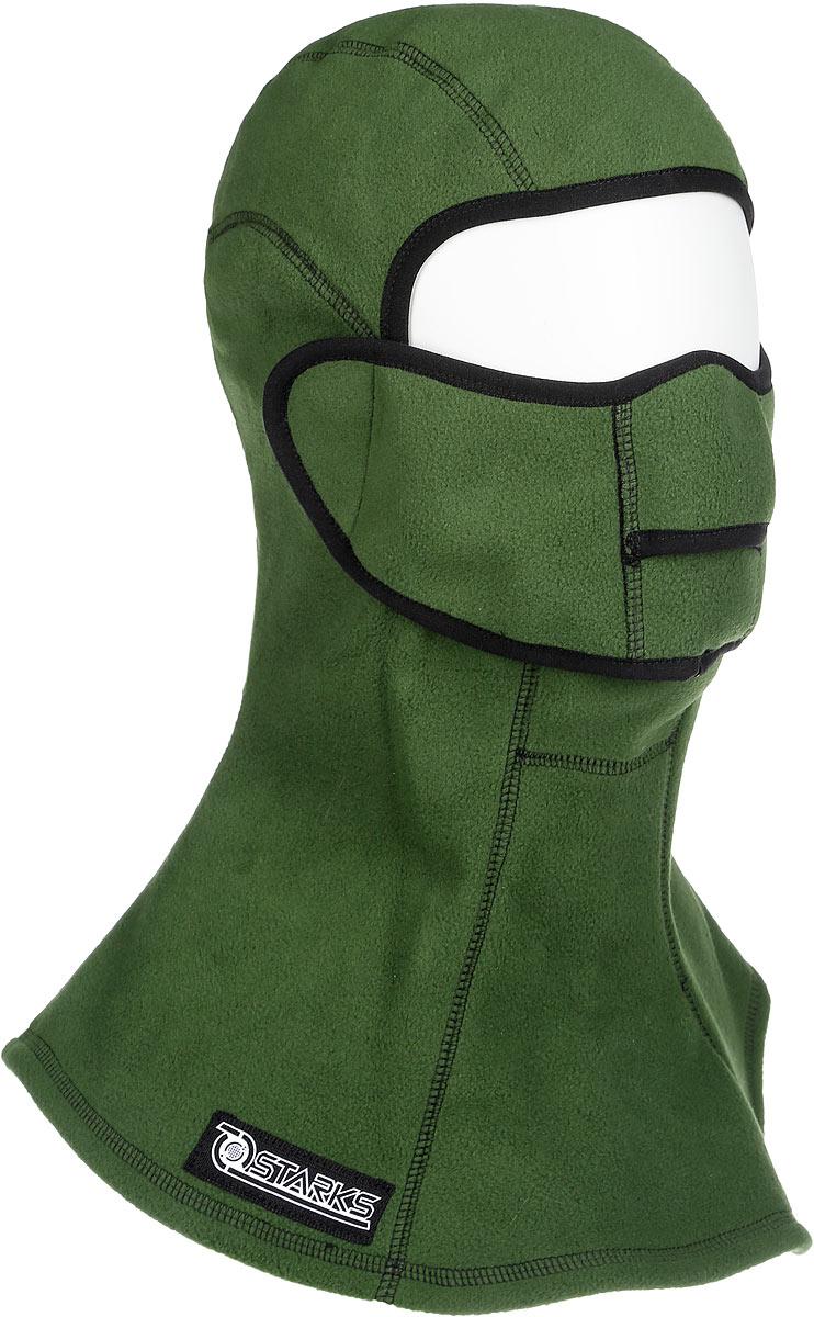 Подшлемник Starks Fleece Collar Open, с защитой шеи, цвет: зеленый. Размер S/M men s casual fur collar coat solid hooded fleece