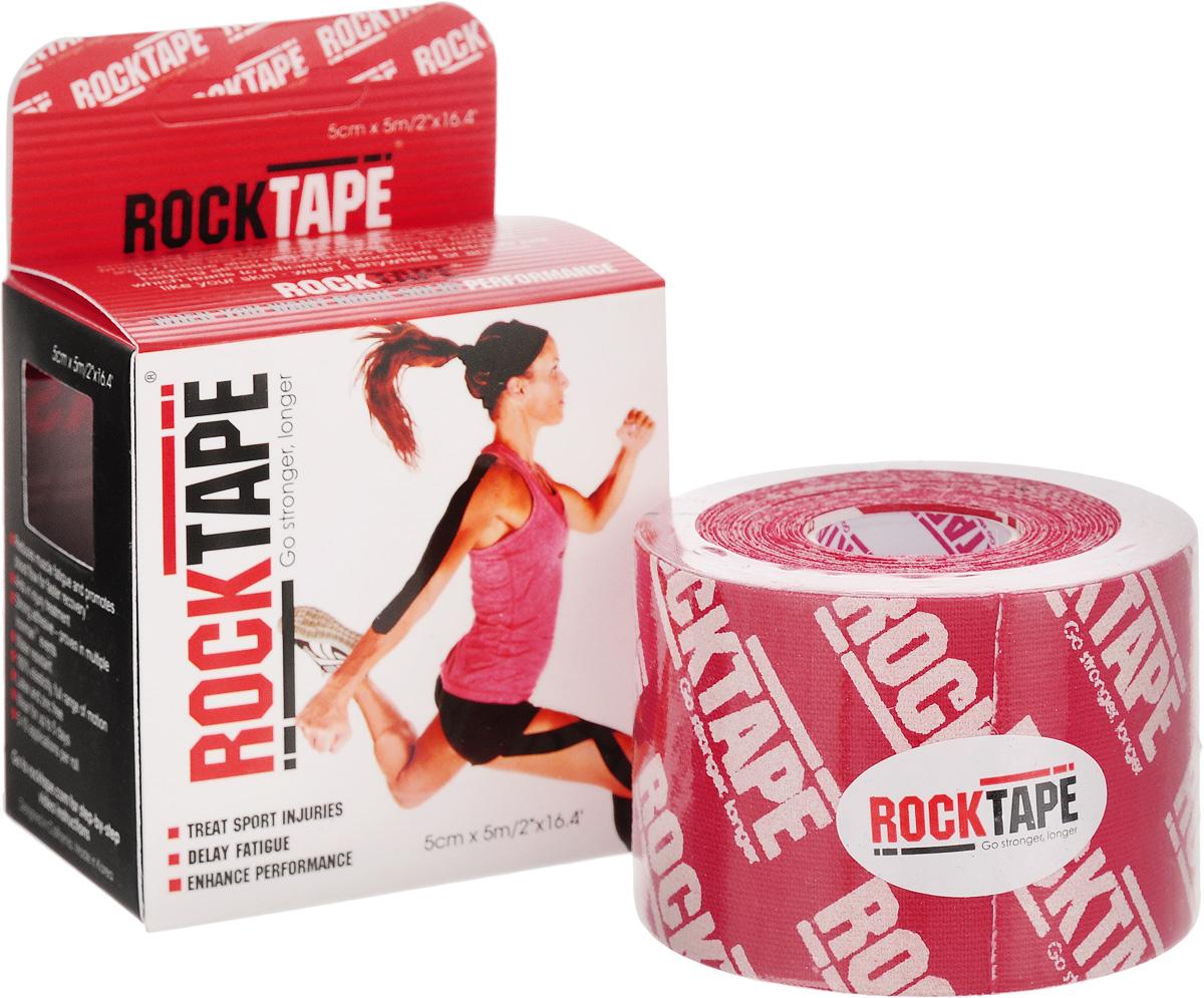 Кинезиотейп Rocktape Classic, цвет: красный, белый, 5 x 500 см кинезиотейп rocktape digit цвет телесный 2 5 x 500 см 2 шт