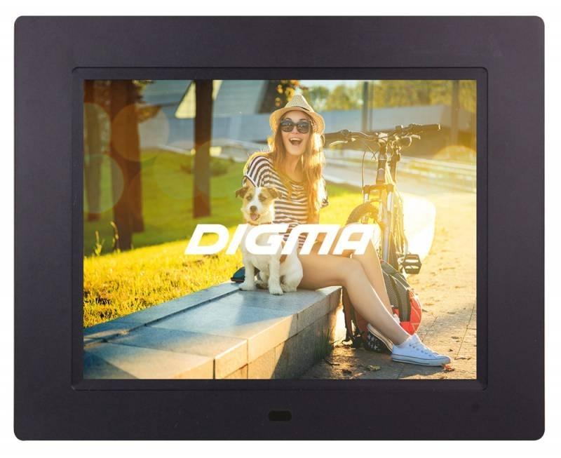 Цифровая фоторамка Digma PF-833, Black цифровая фоторамка digma pf 105bg white