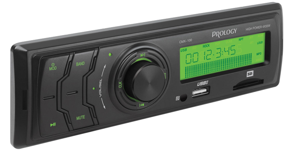 Prology CMX-100, Black автомагнитола автомагнитола prology cmx 120