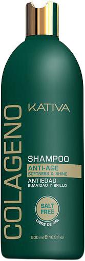 Kativa Коллагеновый шампунь для всех типов волос COLAGENO, 500 мл шампунь коллагеновый kativa