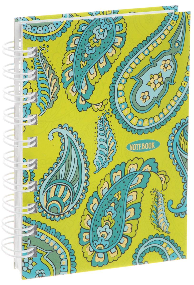Listoff Тетрадь Фантазия Орнамент пейсли 100 листов в клетку формат А6 цены онлайн