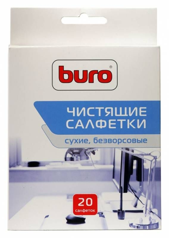 салфетки для удаления пыли buro bu-udry, 20 шт уцененный товар (№1)