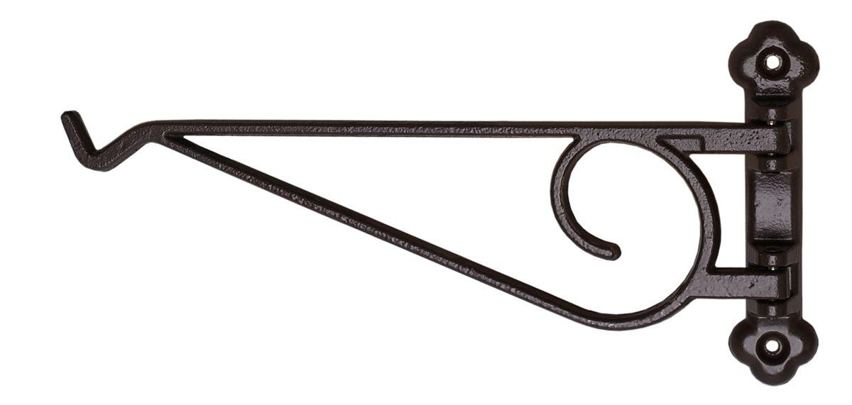 Кронштейн для кашпо Masterprof, поворотный, длина 22,9 см, цвет: черный цена