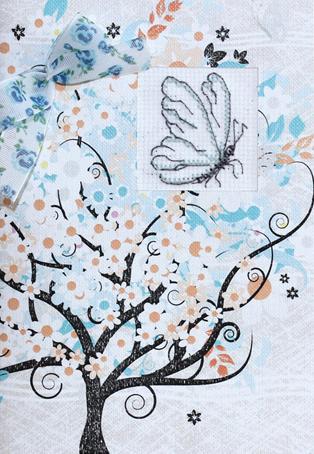 Набор для изготовления открытки Luca-S Бабочка, 10 х 14 см набор для изготовления открытки luca s овечка 10 х 14 см