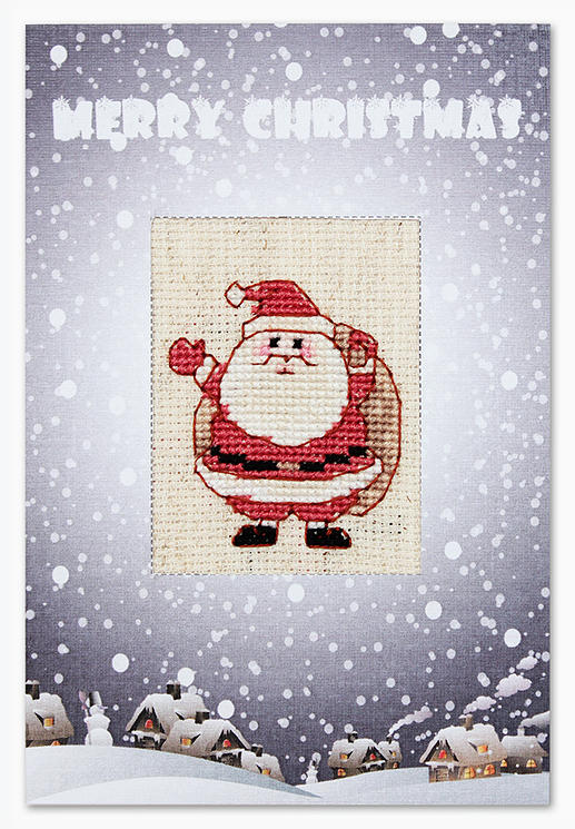 Набор для изготовления открытки Luca-S Санта, 14,8 х 21 см. (S)P-37 набор для изготовления открытки luca s овечка 10 х 14 см