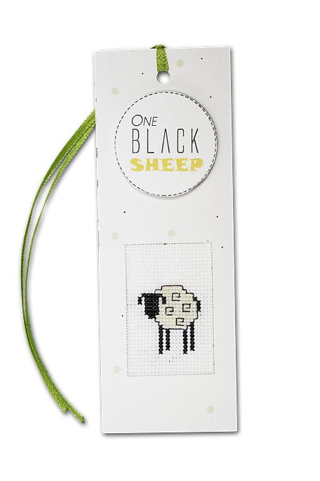 Набор для изготовления закладки с вышитым элементом Luca-S One Black Sheep, 5,5 х 15 см набор для изготовления открытки luca s овечка 10 х 14 см