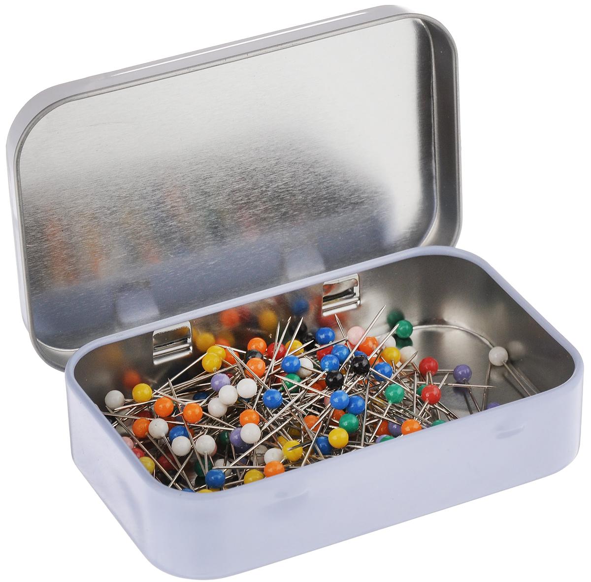 Булавки портновские Hemline, в коробке, 200 шт булавки для шитья gamma ромашка 40 шт