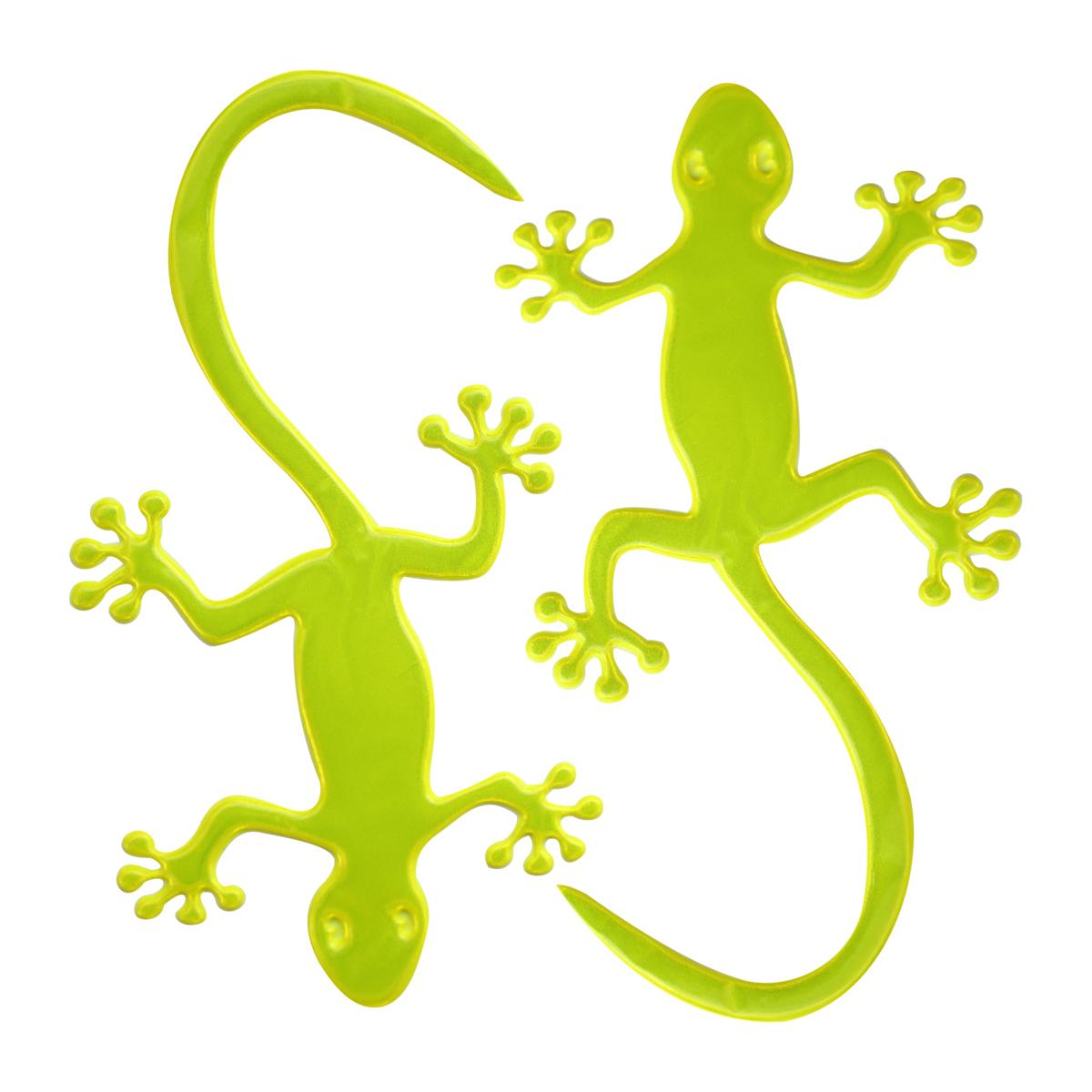 Наклейка светоотражающая Bestex Ящерица, цвет: желтый, 2 шт набор шкатулок для рукоделия bestex 3 шт zw001250