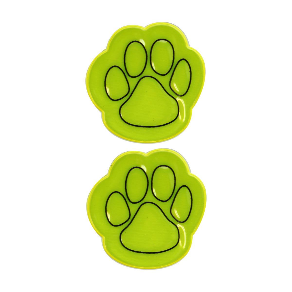 Наклейка светоотражающая Bestex Ступня, цвет: желтый, 2 шт набор шкатулок для рукоделия bestex 3 шт zw001250