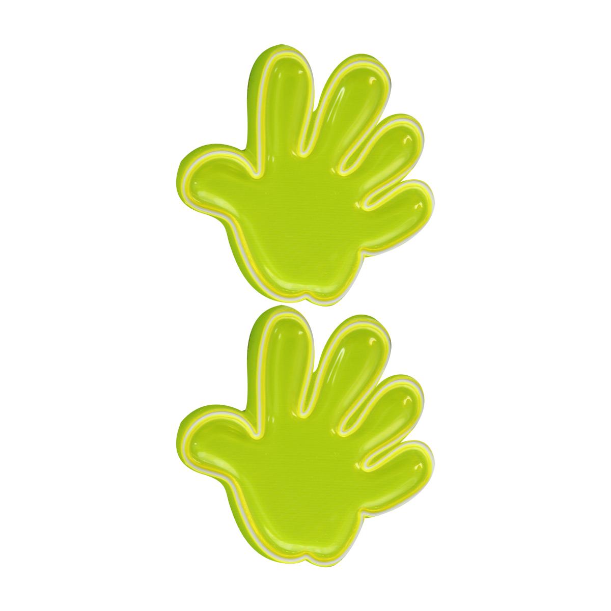 Наклейка светоотражающая Bestex Ладошка, цвет: желтый, 2 шт набор шкатулок для рукоделия bestex 3 шт zw001250