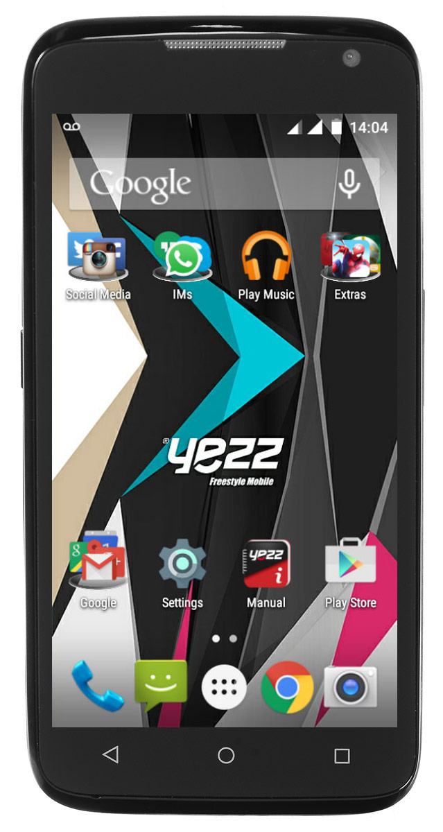 цена Смартфон Yezz Andy 4.5EL LTE 1/4GB black