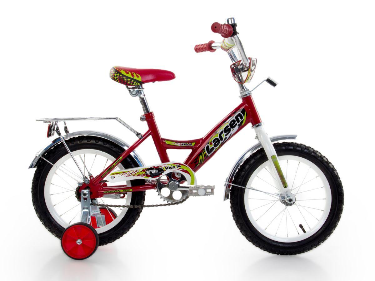 Велосипед детский Larsen Kids 14, цвет: красный