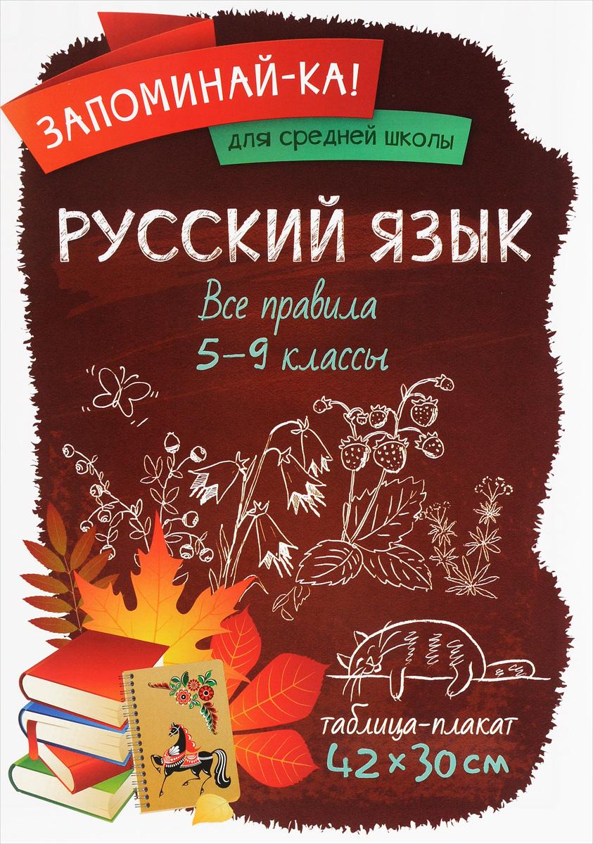 Русский язык. 5-9 классы. Все правила. Таблица-плакат
