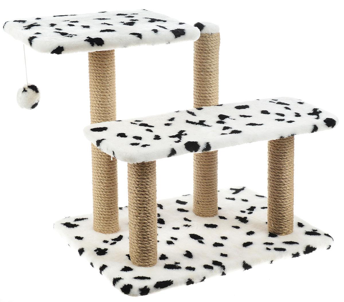 """Игровой комплекс для кошек """"Меридиан"""", с игрушкой и когтеточками, цвет: в ассортименте, 61 х 41 х 53 см"""
