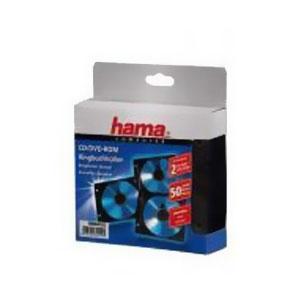 Конверты 2 CD/DVD Hama H-84102, Black (50 шт) конверты hama для 2 cd dvd с перфорацией для портмоне с кольцами белый прозрачный 100шт h 62611