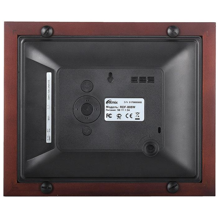 Ritmix RDF-808W, Black Brownцифровая фоторамка Ritmix