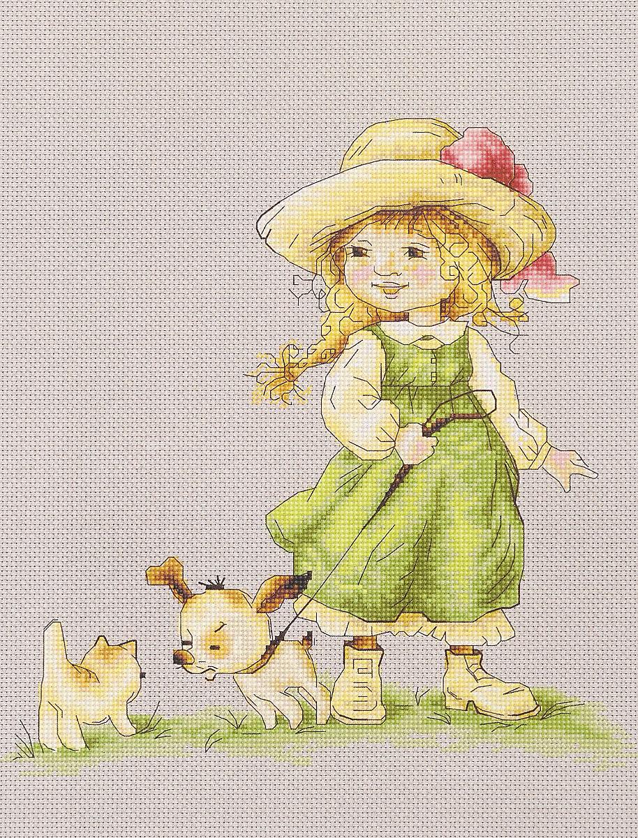 Набор для вышивания крестом Luca-S С поводком, 22 х 22,5 см набор для изготовления открытки luca s овечка 10 х 14 см
