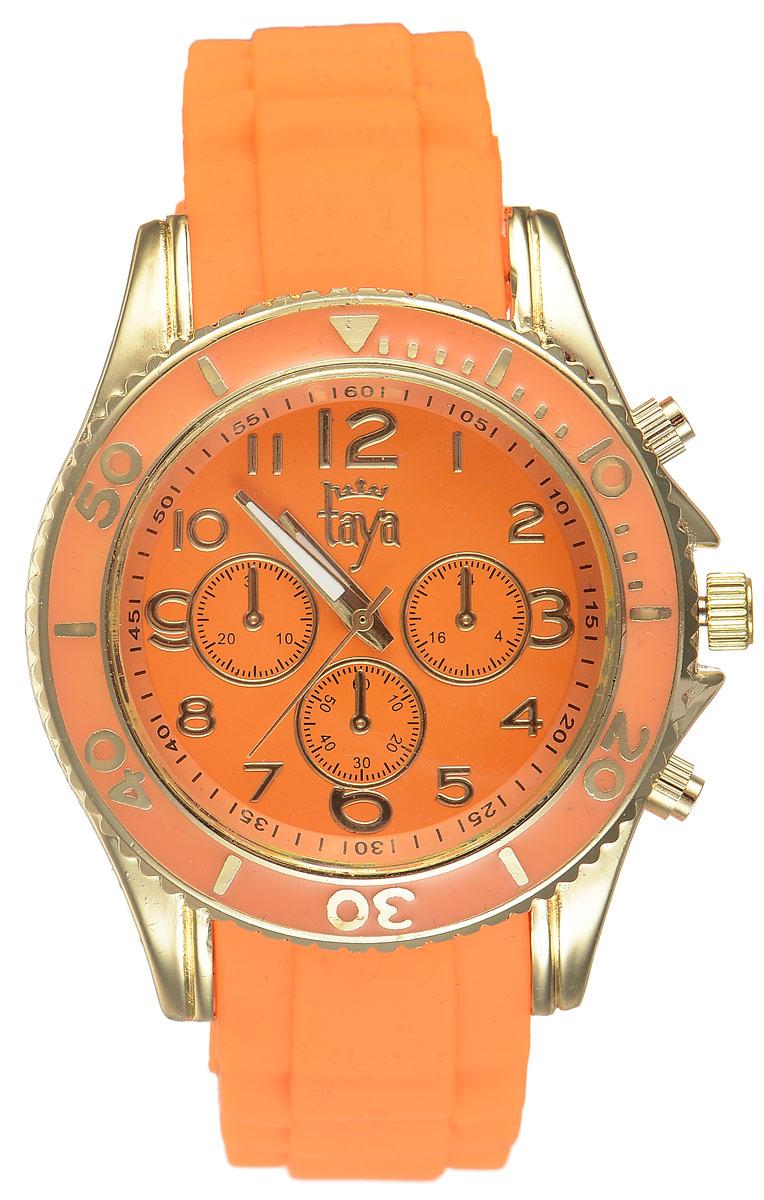 Часы наручные женские Taya, цвет: золотистый, оранжевый. T-W-0238 все цены