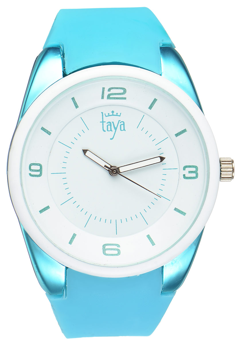 Часы наручные женские Taya, цвет: белый, бирюзовый. T-W-0250 все цены