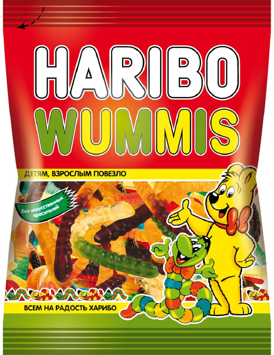 Haribo Червячки Вуммис жевательный мармелад, 70 г жевательный мармелад haribo червячки 70г
