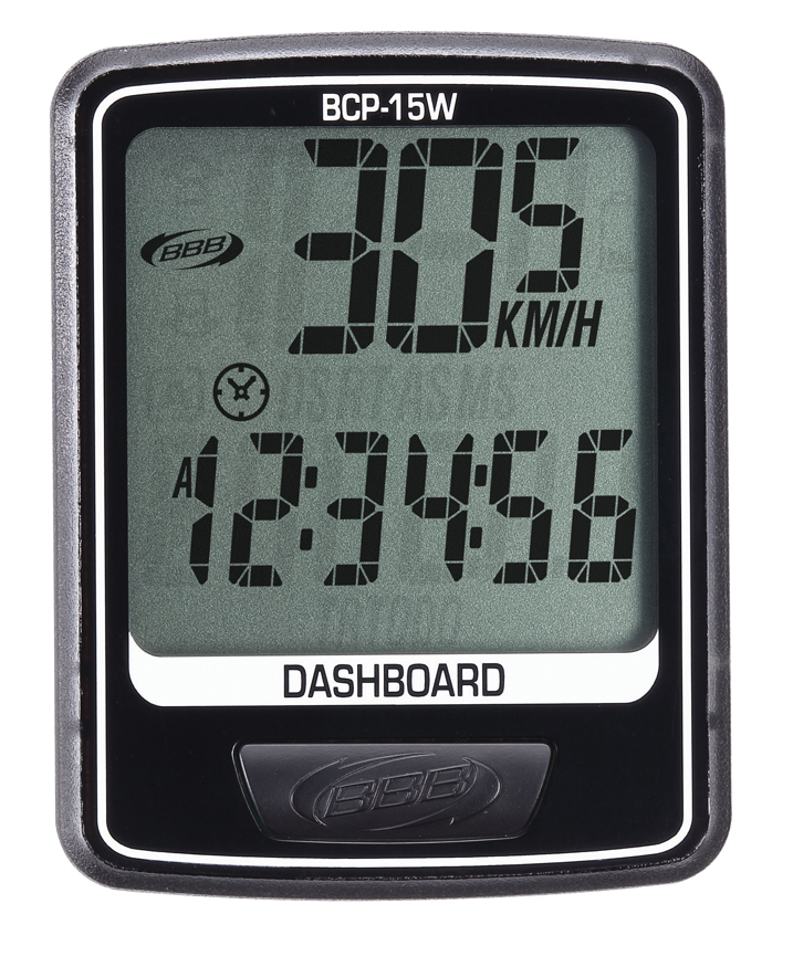 Велокомпьютер BBB DashBoard , цвет: черный, 10 функций. BCP-15W