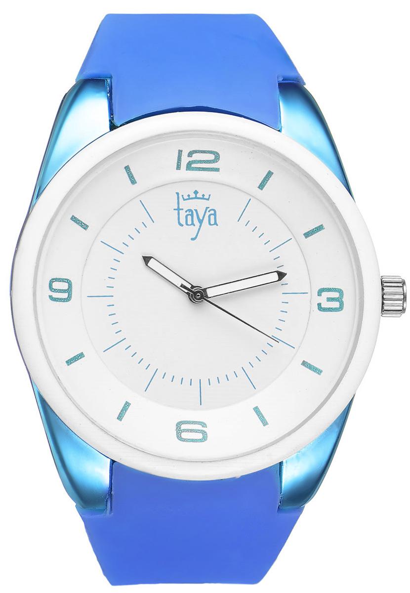 Часы наручные женские Taya, цвет: белый, синий. T-W-0251 все цены