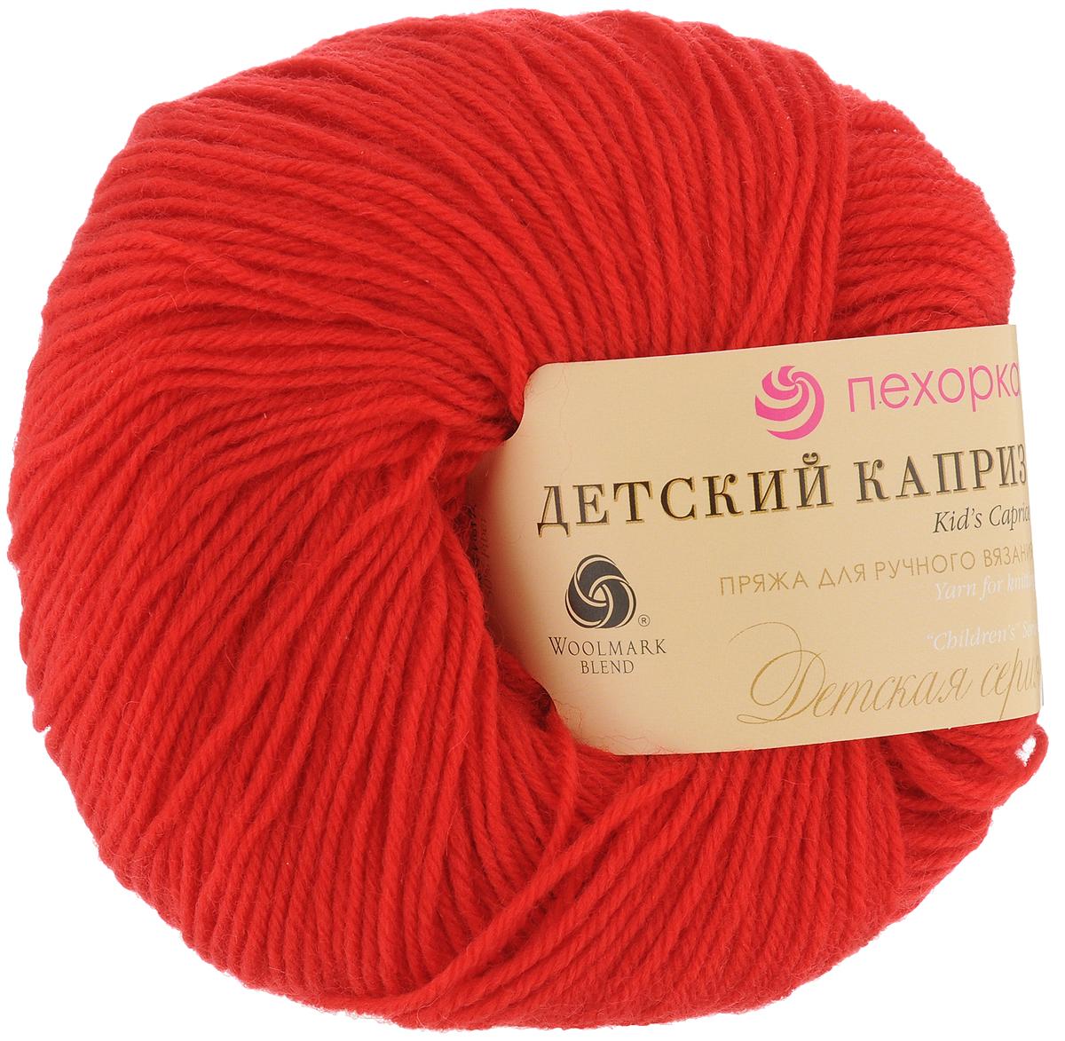 Пряжа для вязания Пехорка Детский каприз, цвет: красный мак (88), 225 м, 50 г, 10 шт пряжа для вязания пехорка рукодельная цвет сирень 22 175 м 50 г 5 шт