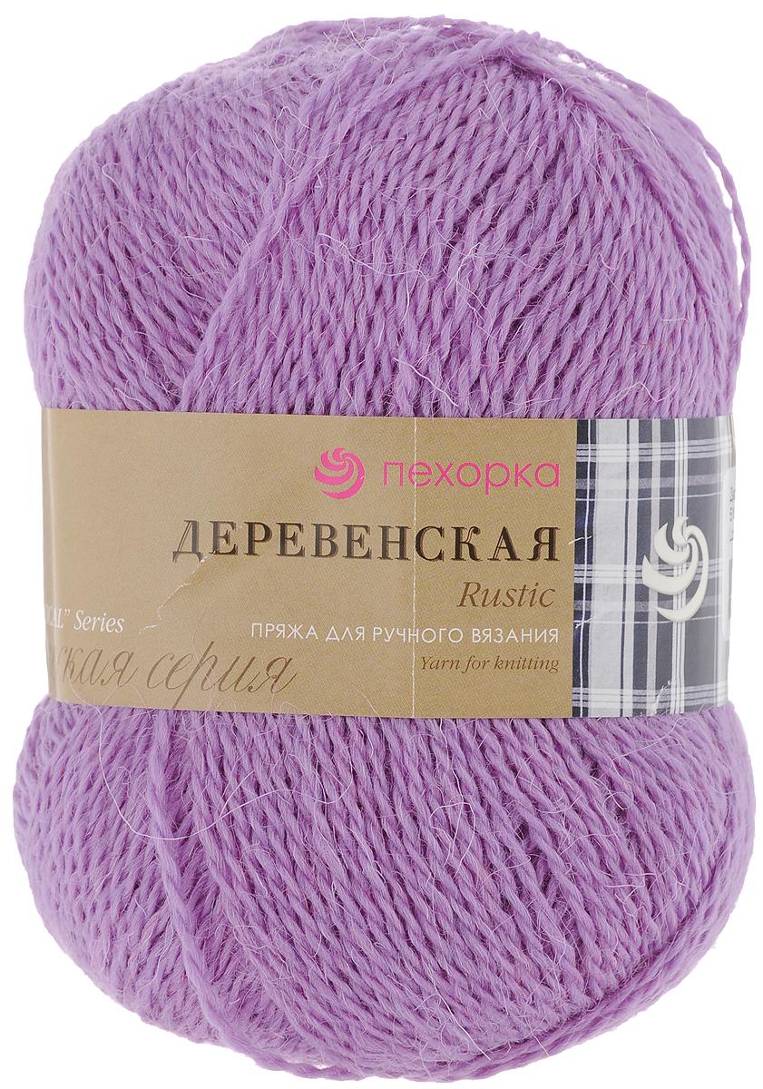 Пряжа для вязания Пехорка Деревенская, цвет: персидская сирень (516), 250 м, 100 г, 10 шт пряжа для вязания пехорка рукодельная цвет сирень 22 175 м 50 г 5 шт