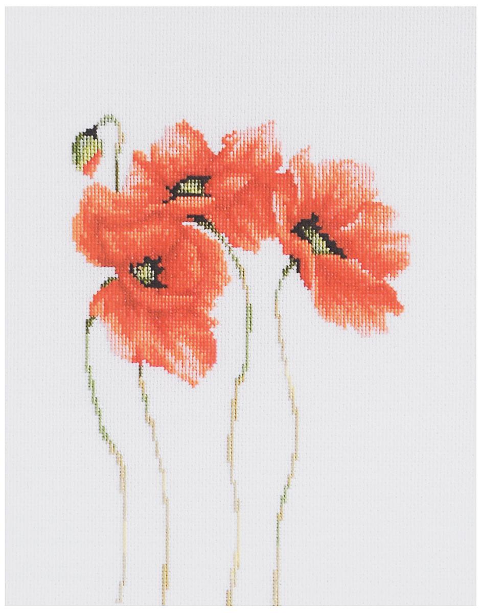 Набор для вышивания крестом Luca-S Маки, 15 х 22 см набор для вышивания крестом luca s улитка 8 5 х 5 см