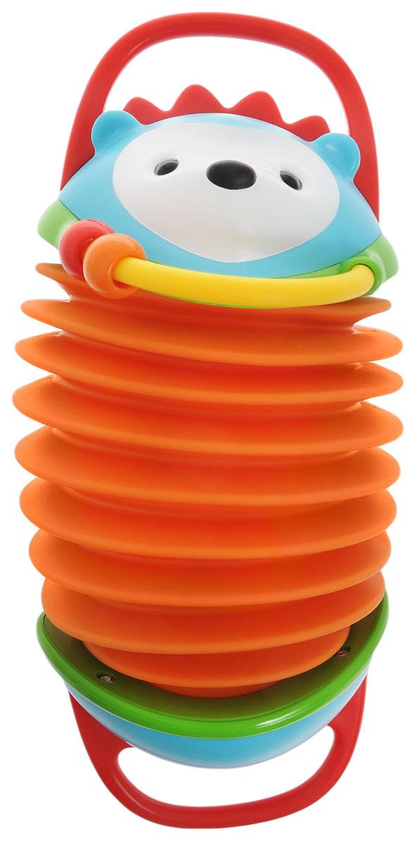 skip hop развивающая пирамида неваляшка сова с 6 мес Skip Hop Развивающая игрушка Ежик аккордеон