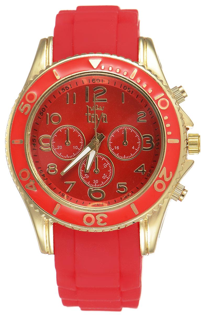 Часы наручные женские Taya, цвет: золотистый, красный. T-W-0241 все цены