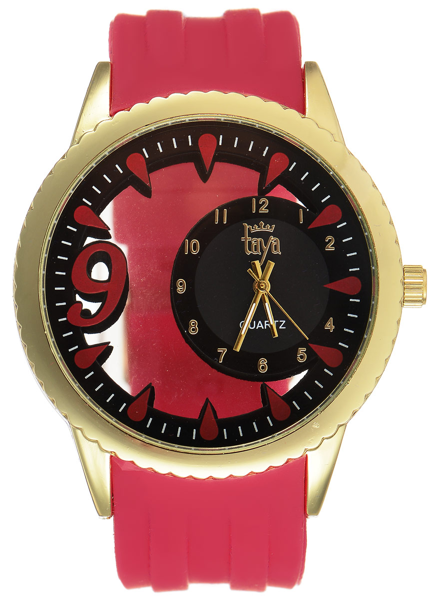 Часы наручные женские Taya, цвет: золотистый, красный. T-W-0246 все цены