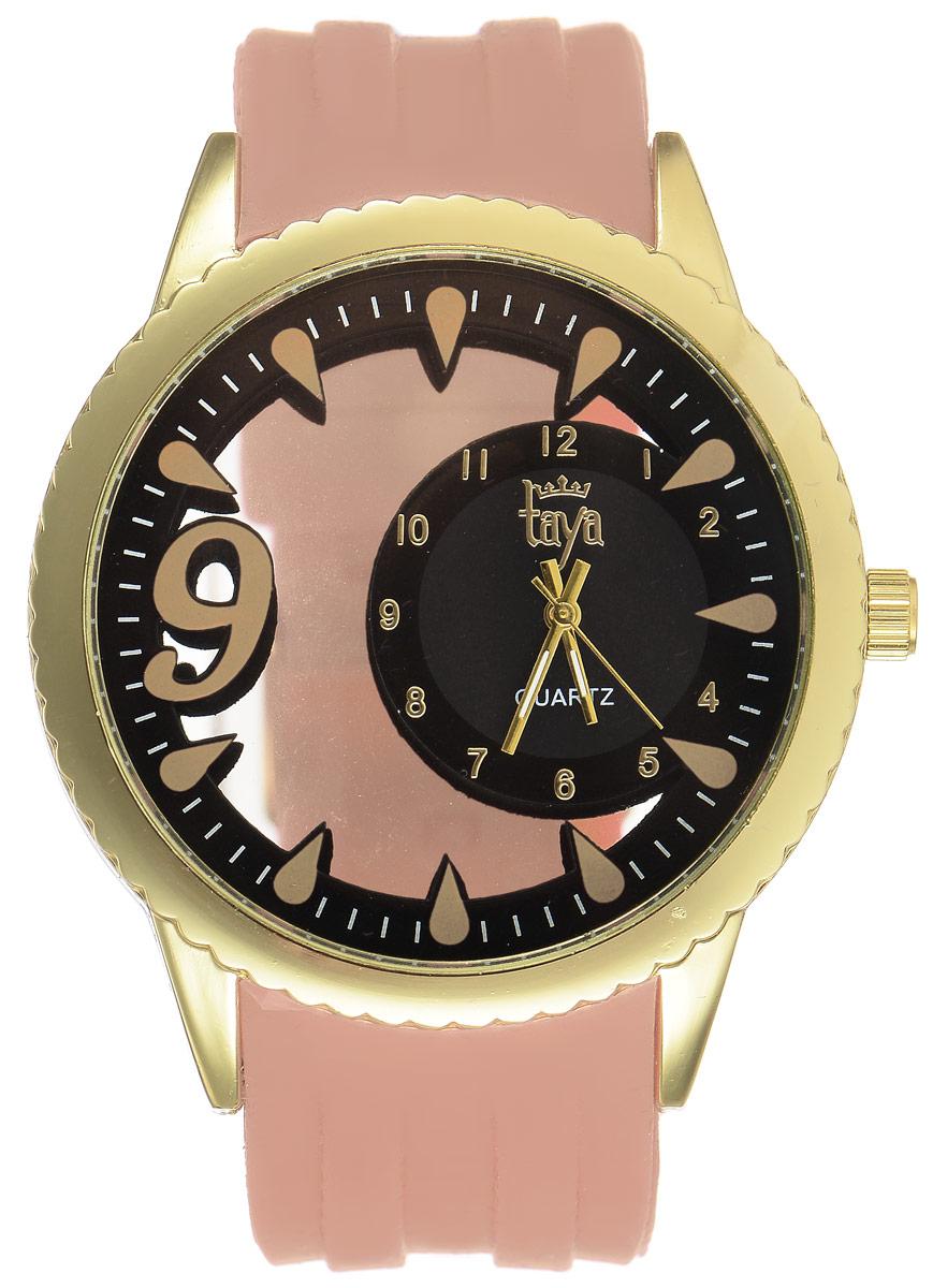 Часы наручные женские Taya, цвет: золотистый, бежевый. T-W-0245 все цены