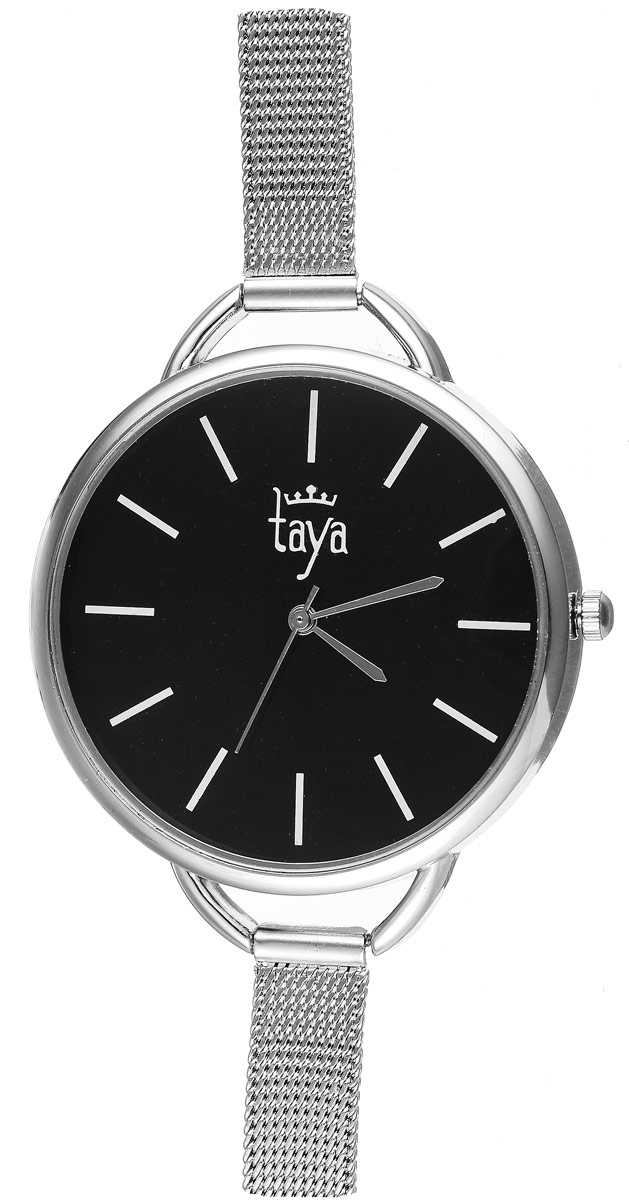 Часы наручные женские Taya, цвет: серебристый, черный. T-W-0476 все цены