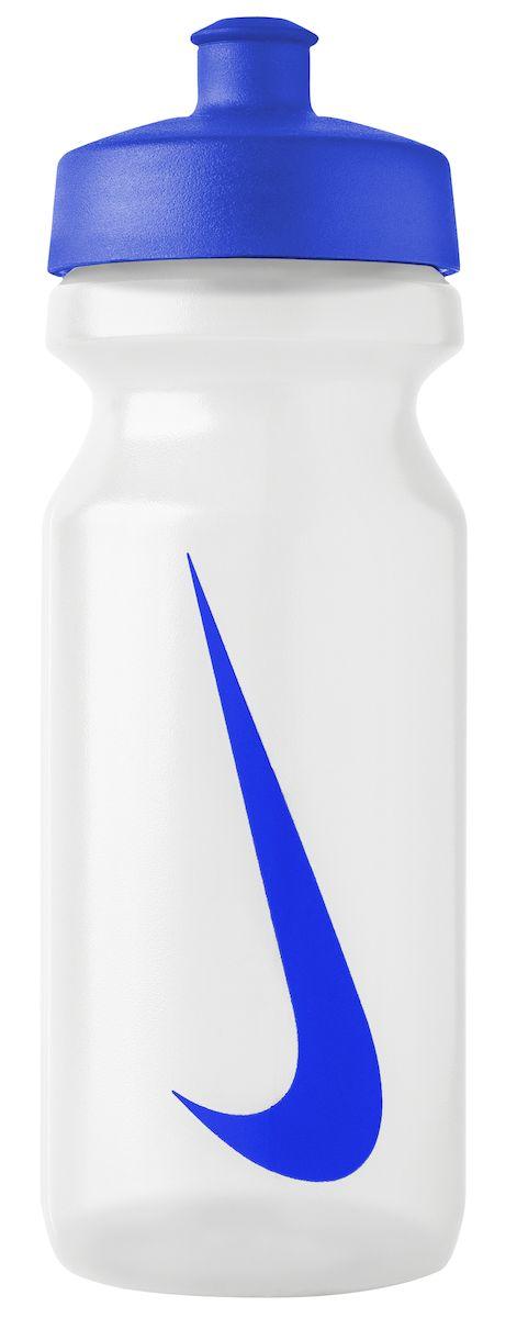 Бутылка для воды Nike, цвет: прозрачный, синий, 650 мл