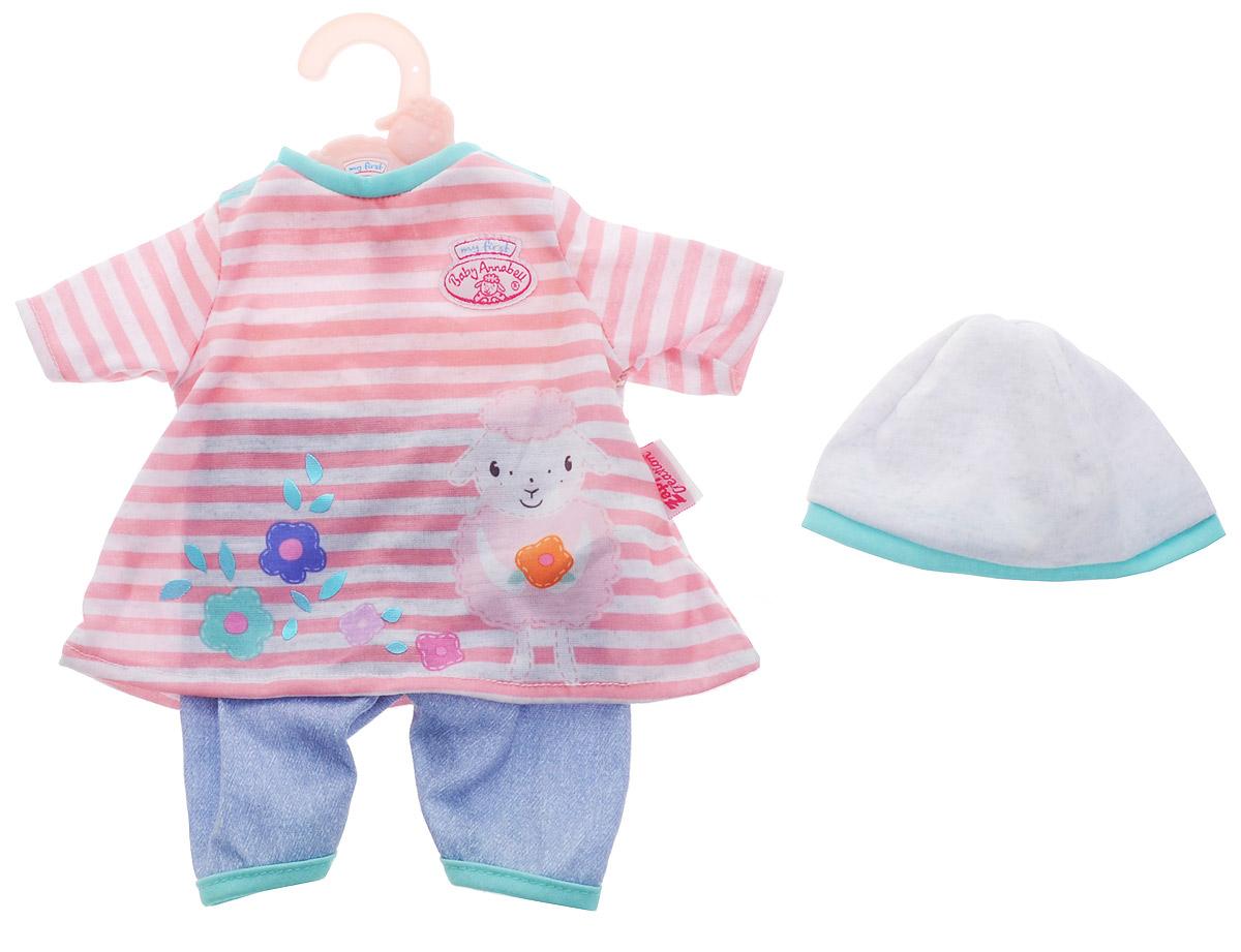 Baby Annabell Одежда для кукол Платье со штанишками цвет розовый светло-серый