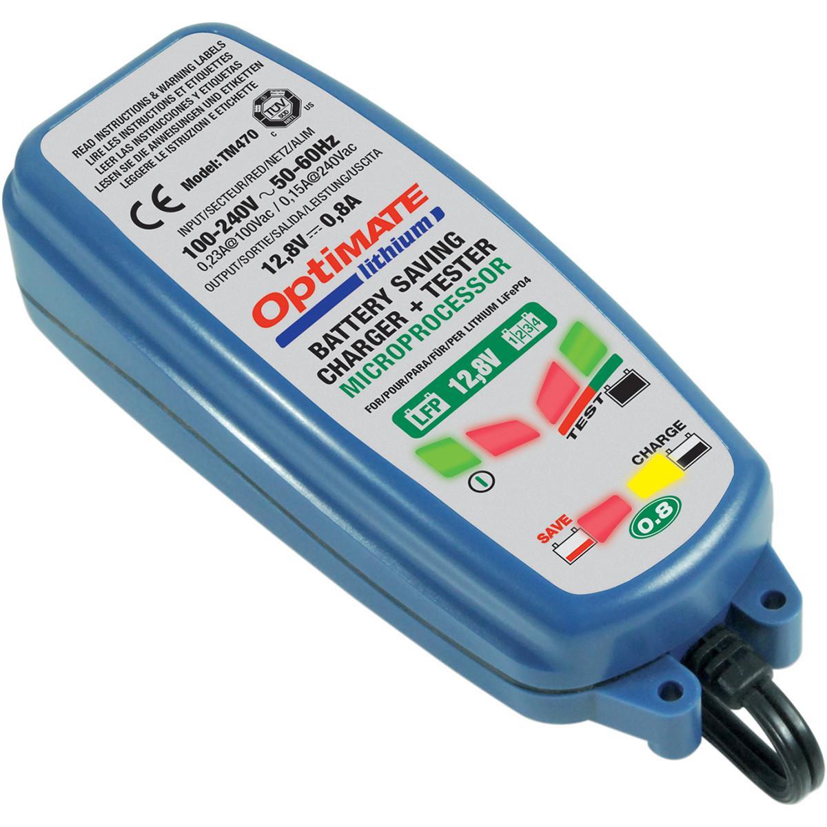 Зарядное устройство OptiMate Lithium 0,8А. TM470 зарядное устройство optimate 5 4а start stop 1x4a 12v tm220