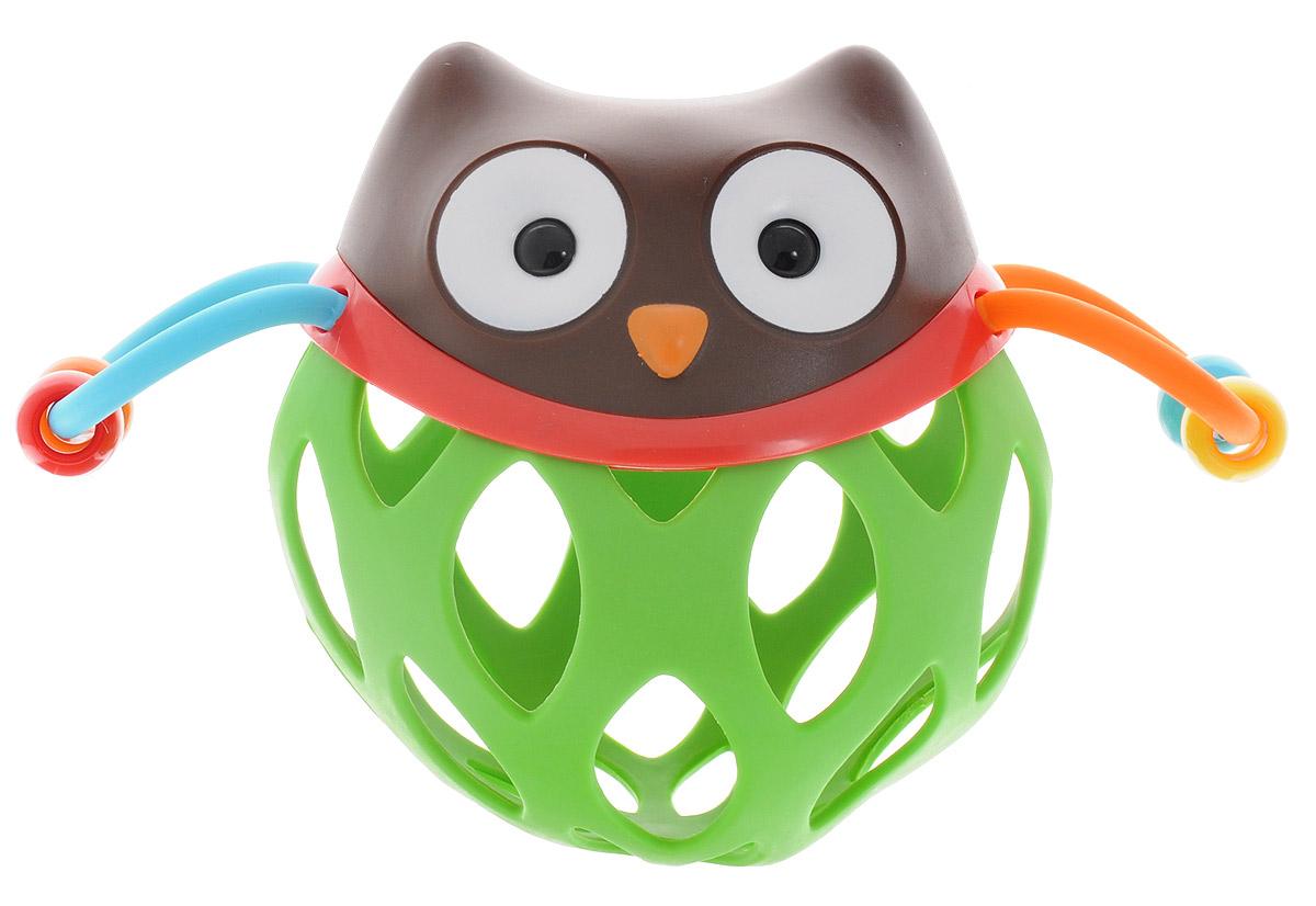 skip hop развивающая пирамида неваляшка сова с 6 мес Skip Hop Развивающая игрушка-погремушка Шар-сова