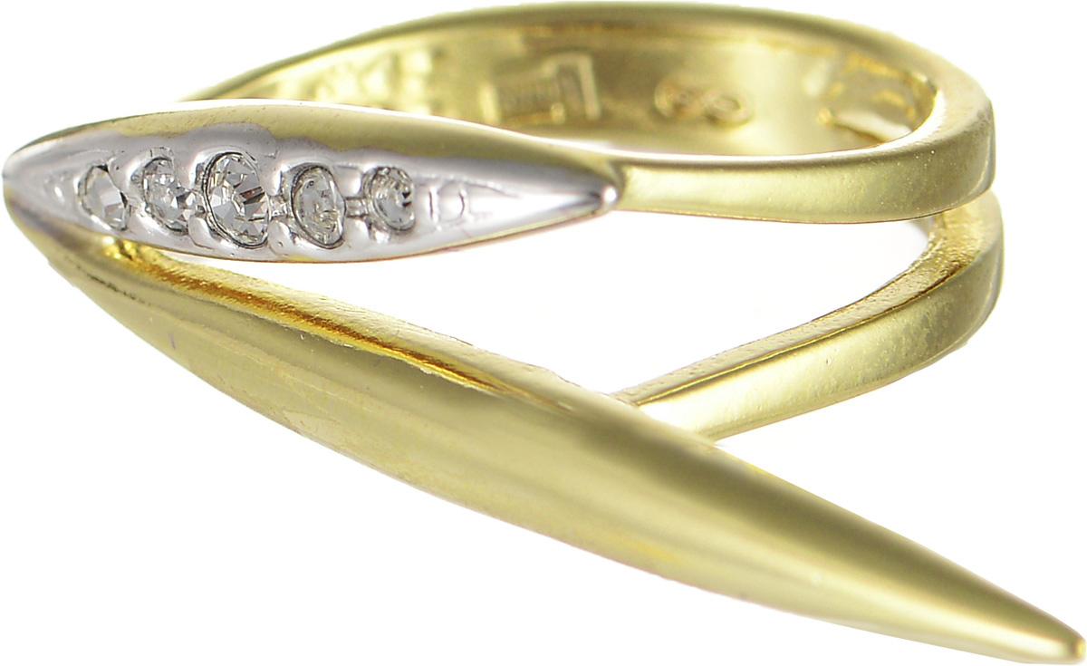Кольцо Jenavi Бонанза, цвет: золотой, белый. f633q000. Размер 16 кольцо женское jenavi линия судьбы вейя цвет золотой r406p090 размер 16